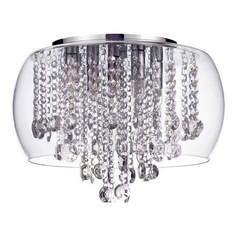 crystal bathroom ceiling light marquis by waterford nore led small encased flush