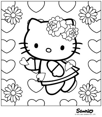 hello kitty coloring pages valentines day valentines day coloring pages let s celebrate