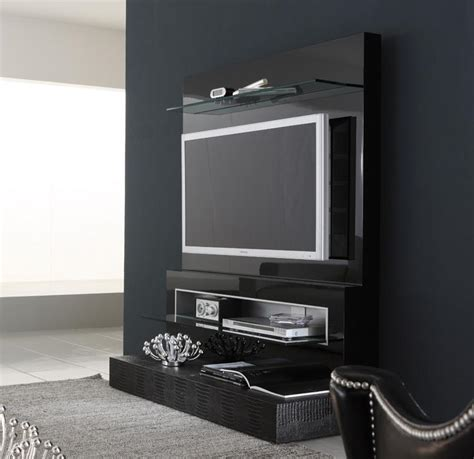 Cabinet Design For Tv White Tv Cabinet With Contrast Wallpaper Ipc338