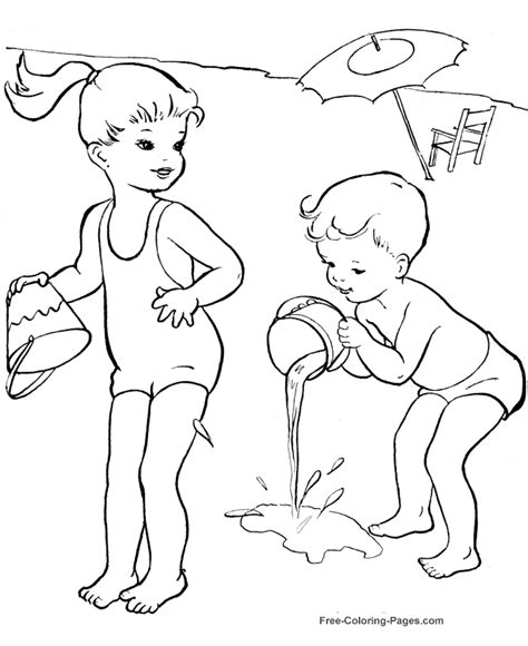 coloring book pages summer summer coloring pictures at the 25