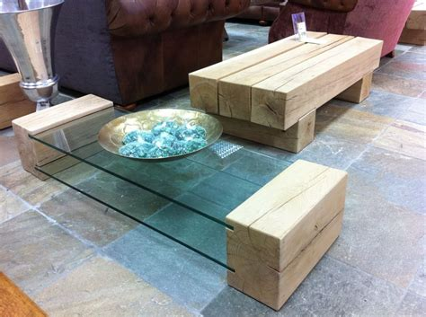 Railway Sleeper Coffee Table by Coffee Table Made From New Oak Railway Sleepers And