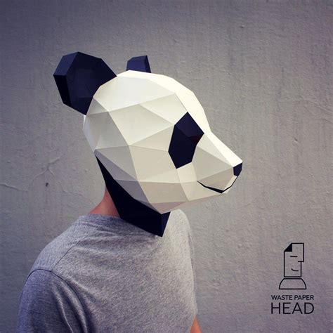 Papercraft Costume - you can make your own panda mask printable diy template