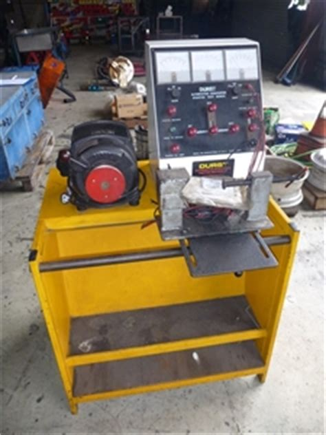 bench testing a starter motor durst alternator generator starter test bench auction