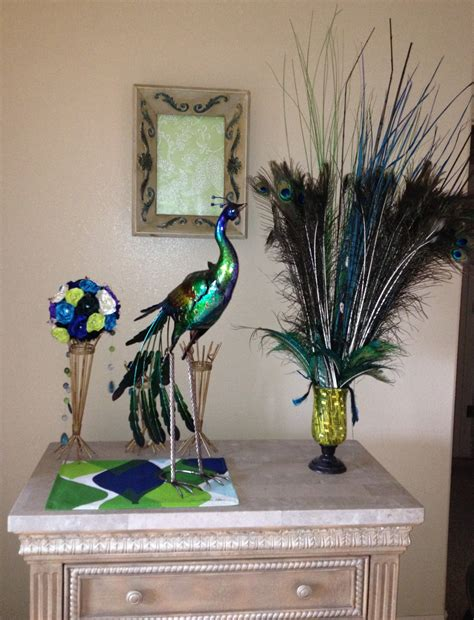 peacock decoration peacock decor peacock theme living room pinterest