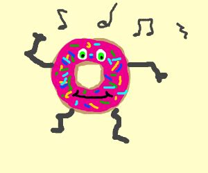 doughnut clipart simple pencil   color doughnut
