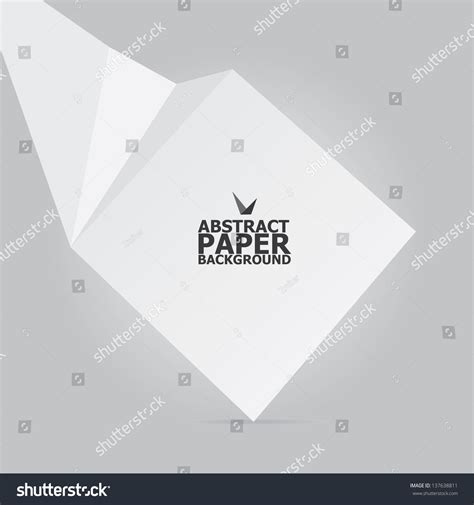 Origami White Paper - abstract white paper origami background vector stock