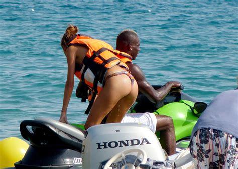 jet ski vs boat accident holiday snaps mario balotelli picks up a bikini girl on a