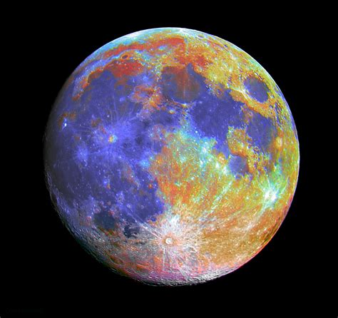 colors of the moon different color moons pics about space