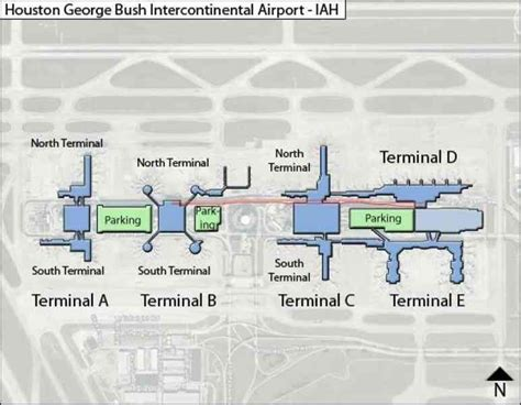 map of george bush intercontinental airport houston texas iah airport map map travel holidaymapq