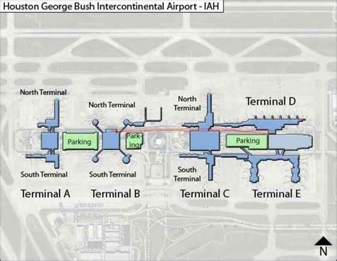 map of george bush intercontinental airport houston texas iah airport map map travel holidaymapq
