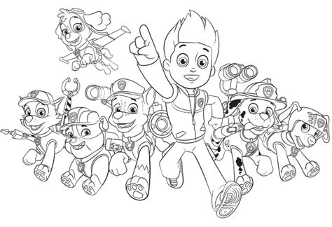paw patrol nickelodeon coloring pages paw patrol group create nick jr colouring pages