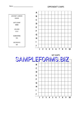 excel battleship template battleship 1 xls free 2 pages