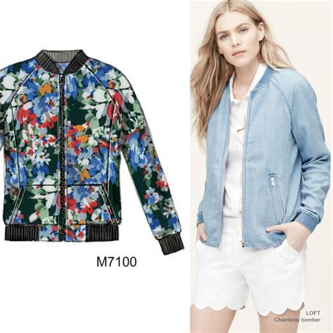 pattern recognition bomber jacket sew the look you need a bomber jacket in a lightweight