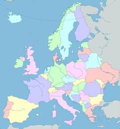 show the map of europe interactive map of europe europe map with countries and seas