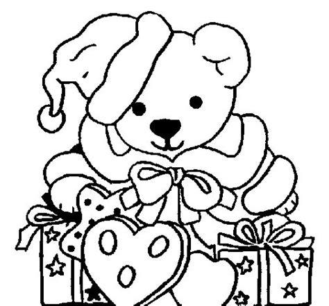 dibujos de navidad para colorear de ositos dibujo de osito con gorro navide 241 o para colorear dibujos net