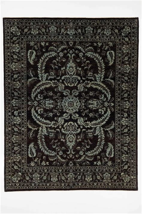 black rug traditional chobi ziegler oriental rug with borders black