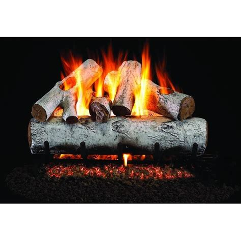 white birch gas fireplace logs real fyre peterson white birch vented g45 log set wg45 18 ss
