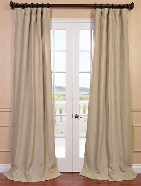 Hemp French Linen Curtain Contemporary Curtains San