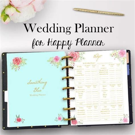 Happy Planner Wedding Inserts, Wedding Planner Printable