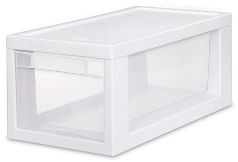 Sterilite Stackable Storage Drawers by 6 Sterilite 23508006 Narrow Modular Stacking Storage
