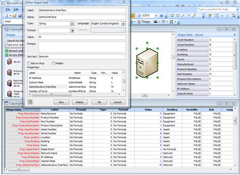 visio shape properties copying data from one shape to another bvisual for