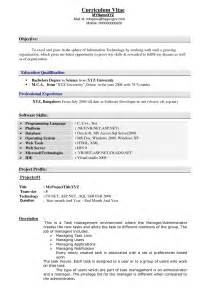 exles of resumes sle resume profile statement