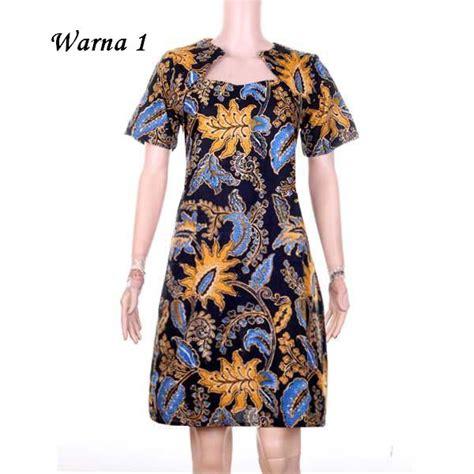 Baju Terusan Wanita baju terusan wanita dress batik kalina 5 warna