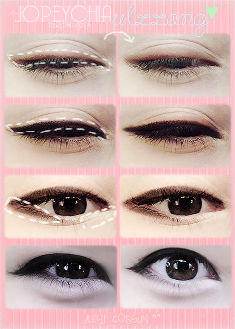 tutorial maquillaje ojos eyeliner ariska pue s blog korean eyes makeup