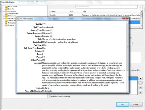 Inserting Citations In An Essay by Working With Write N Cite For Windows June 2012