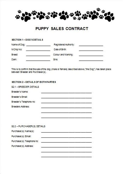 puppy contract pin puppy sales contract on