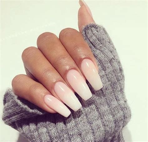 grey nails natural coffin shape image 3706733 by