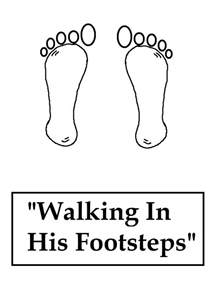Footprints Coloring Following Jesus Coloring Pages