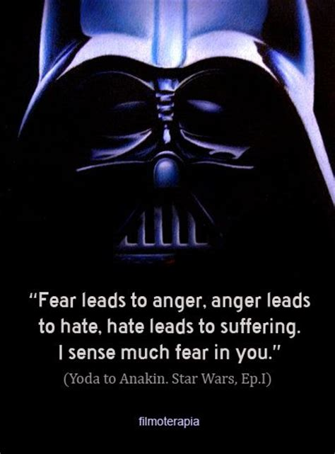 star of fear star 0802775888 yoda to anakin fear leads to anger filmoterapia