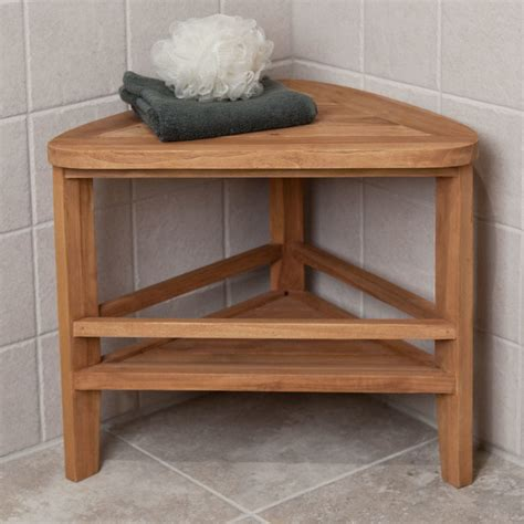 bench for sitting wedge shaped brown wooden small bathroom bench for corner shower elegant homes showcase