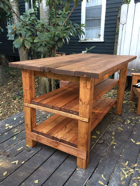 hand built rustic kitchen island house food baby rustic kitchen island my woodshop pinterest