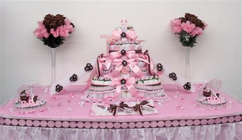 Cake Table Decorations For Baby Shower by 4tier Pink Brown Baby Shower Cake Centerpiece Gift