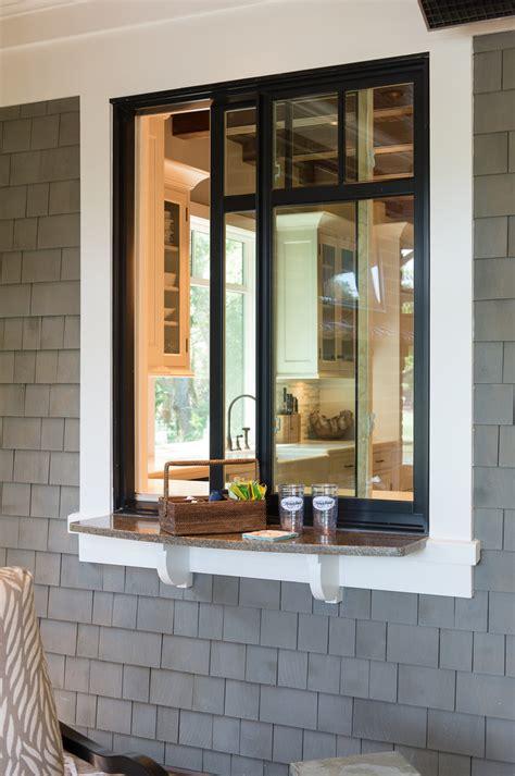 Exterior Kitchen Door With Window Kitchen Pass Through Window Patio Traditional With Kitchen