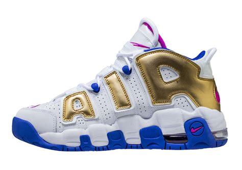 Nike Air More Up Tempo Gold White nike air more uptempo fuchsia blast metallic gold 415082 106 sneaker bar detroit