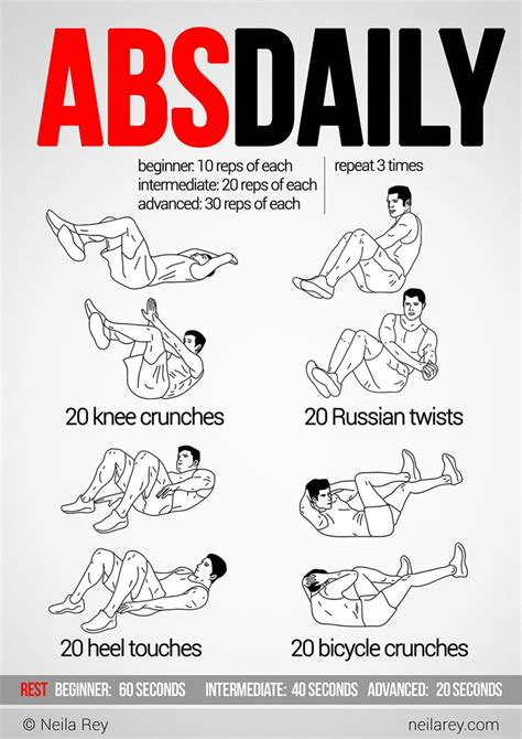 abs daily workout workout daily workouts
