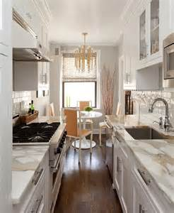 ideas for a galley kitchen small kitchens big design the potted boxwood