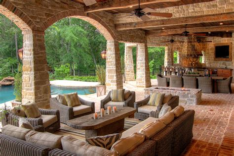 outside living outdoor living space eklektik interiors houston texas
