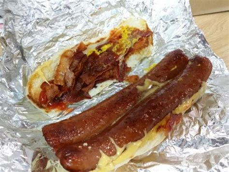 five guys dogs bacon cheese picture of five guys new york city tripadvisor