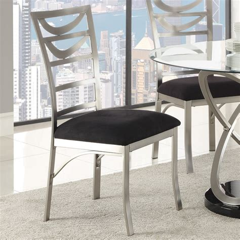 tapia dining chair silver metal set of 2 contemporary