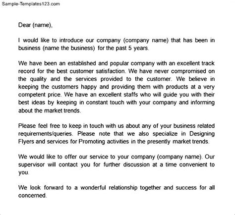 Self Introduction Letter For Business How To Write A Self Introduction Business Letter Cover Letter Templates