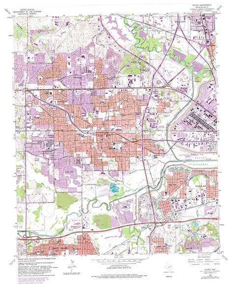 map irving texas irving topographic map tx usgs topo 32096g8