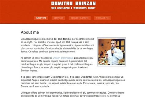 resume format personal profile