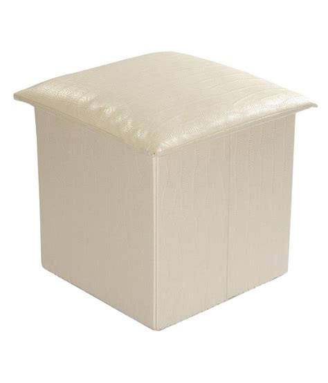 off white ottoman royal home off white fabric folded storage ottoman buy