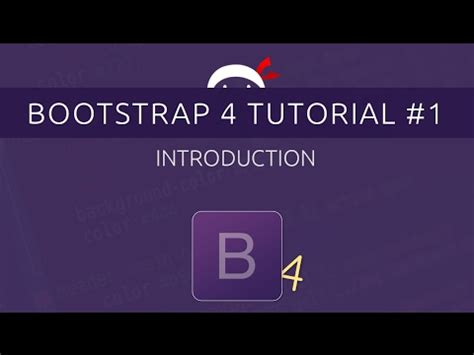 bootstrap tutorial on youtube bootstrap 4 tutorial 1 introduction youtube