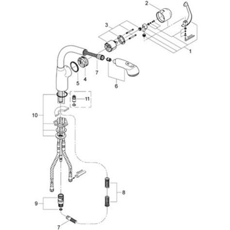 grohe ladylux plus parts diagram grohe ladylux plus 33 737 pull out faucet parts