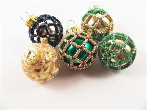 beaded christmas ornament pattern 1 net beading beading